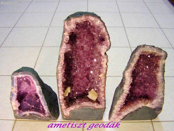 Ametiszt geodák - Rio Grande do Sul, Brazília