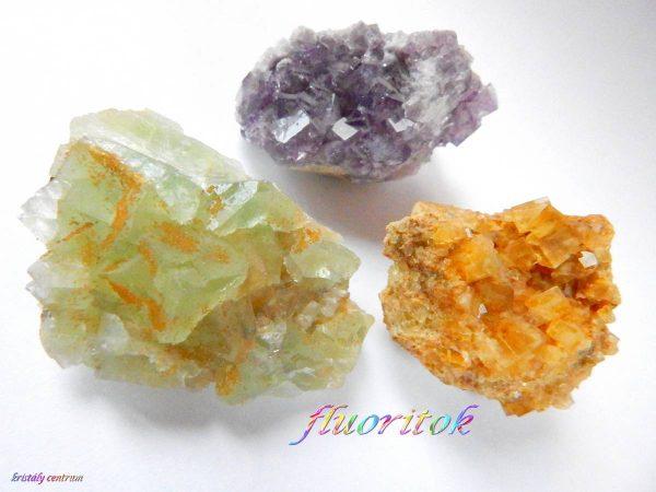 Fluoritok kristálytelepek