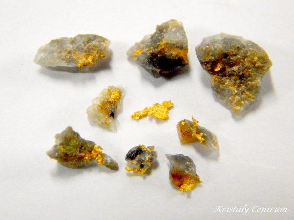 Termésarany kvarcban (bányászott) Zimbabwe